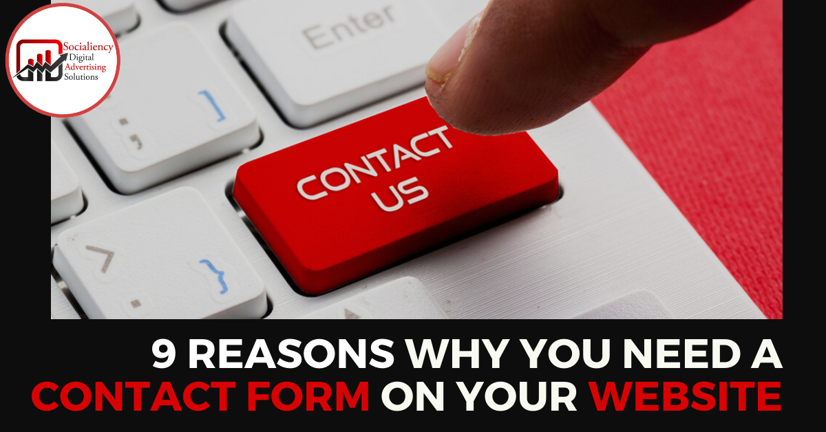 9 reasons why you need a contact form on your website